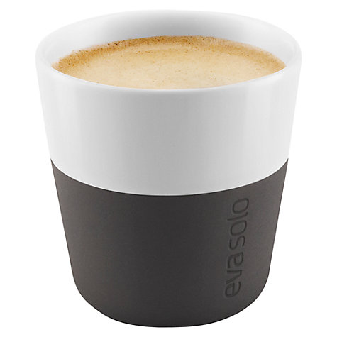 Buy Eva Solo Espresso Cup, Set of 2, Black/White Online at johnlewis.com