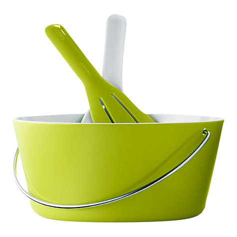 Buy Eva Solo Salad Bowl and Server Set, Lime Online at johnlewis.com