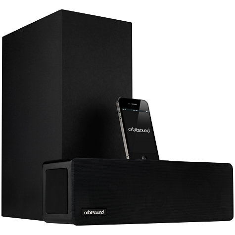 Buy Orbitsound T9 iPod Dock Sound Bar, Black Online at johnlewis.com