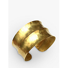 Buy Dower & Hall Nomad Vermeil Double Concave Hammered Cuff, Gold Online at johnlewis.com