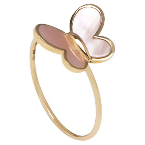 Buy Morganne Bello 18ct Yellow Gold Butterfly Ring Online at johnlewis.com