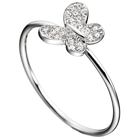 Buy Morganne Bello Gold Vermeil Diamante Butterfly Ring Online at johnlewis.com