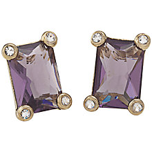 Buy Carolee Faceted Oblong Diamanté Framed Stud Earrings Online at johnlewis.com
