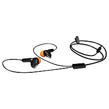 Buy Iqua Groove In-Ear Headphones with Microphone, Orange Online at johnlewis.com
