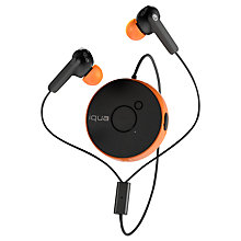 Buy Iqua Spin Wireless In-Ear Headphones with Microphone, Orange Online at johnlewis.com