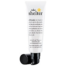 Buy Philosophy Take Shelter UVA/UVB SPF50 pa +++, 30ml Online at johnlewis.com