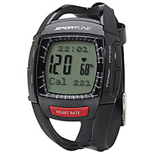 Buy Sportline 660 Men's Cardio Heart Rate Watch, Black Online at johnlewis.com