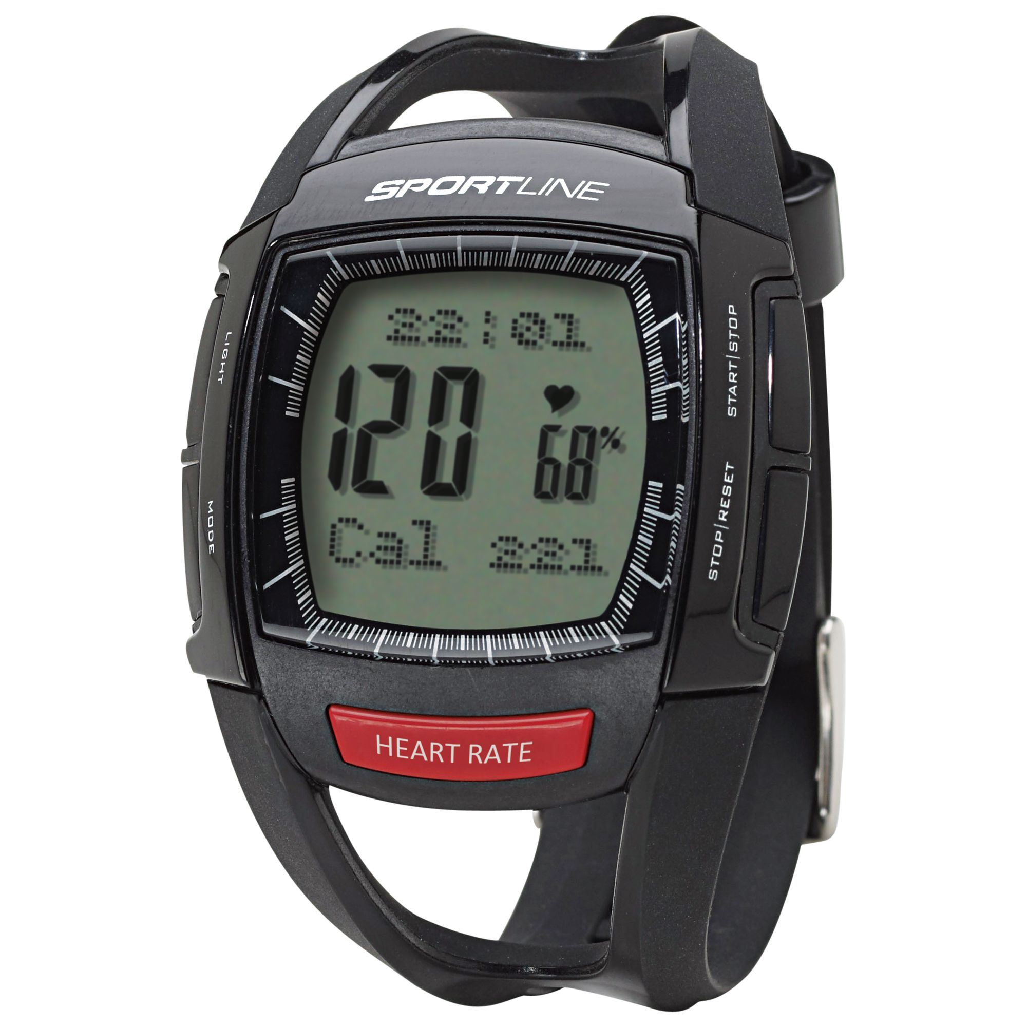 Sportline 660 Men's Cardio Heart Rate Watch, Black