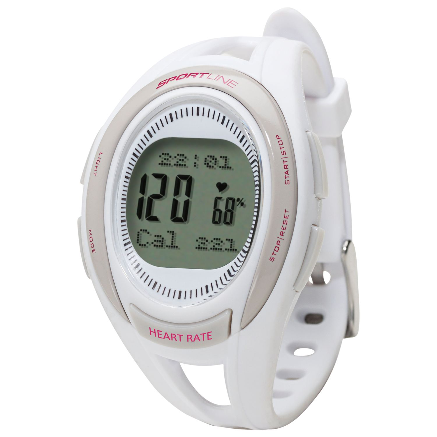 Sportline Sportline 660 Women's Cardio Heart Rate Watch, White