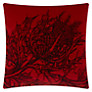 Timorous Beasties for John Lewis Thistle Velvet Cushion, Red