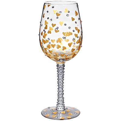 Lolita Heart Of Gold Wine Glass