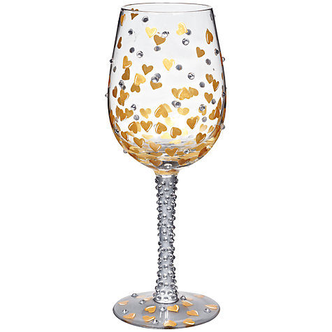 Buy Lolita Heart Of Gold Wine Glass Online at johnlewis.com