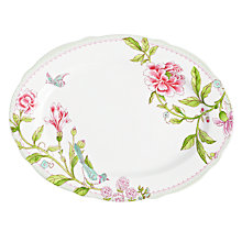 Buy Sanderson for Portmeirion Porcelain Garden Oval Platter, Dia.33cm Online at johnlewis.com