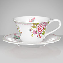 Buy Sanderson for Portmeirion Porcelain Garden Teacup And Saucer Online at johnlewis.com