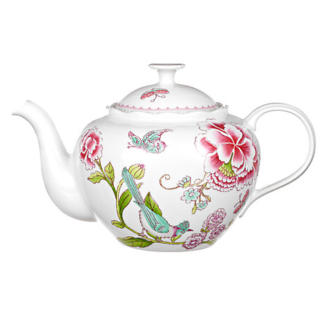 Buy Sanderson for Portmeirion Porcelain Garden Teapot, 1.3L Online at johnlewis.com