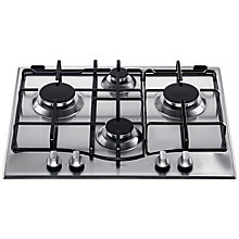 Buy Hotpoint GC640IX Gas Hob, Stainless Steel Online at johnlewis.com