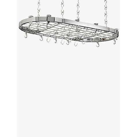 Buy Hahn Premium Chrome Oval Ceiling Pan Rack Online at johnlewis.com