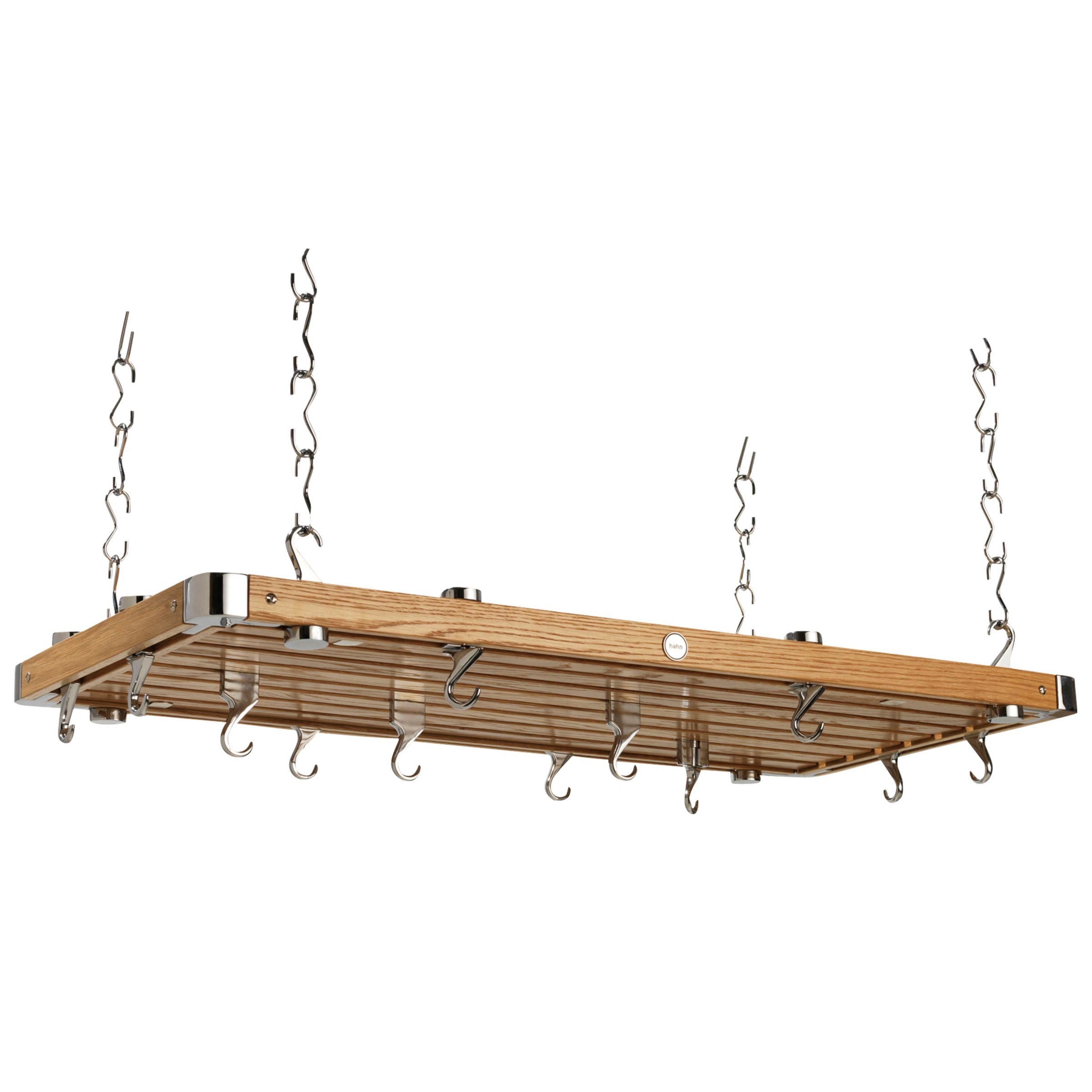 Hahn Hahn Premium Large Rectangular Ceiling Rack, Oak