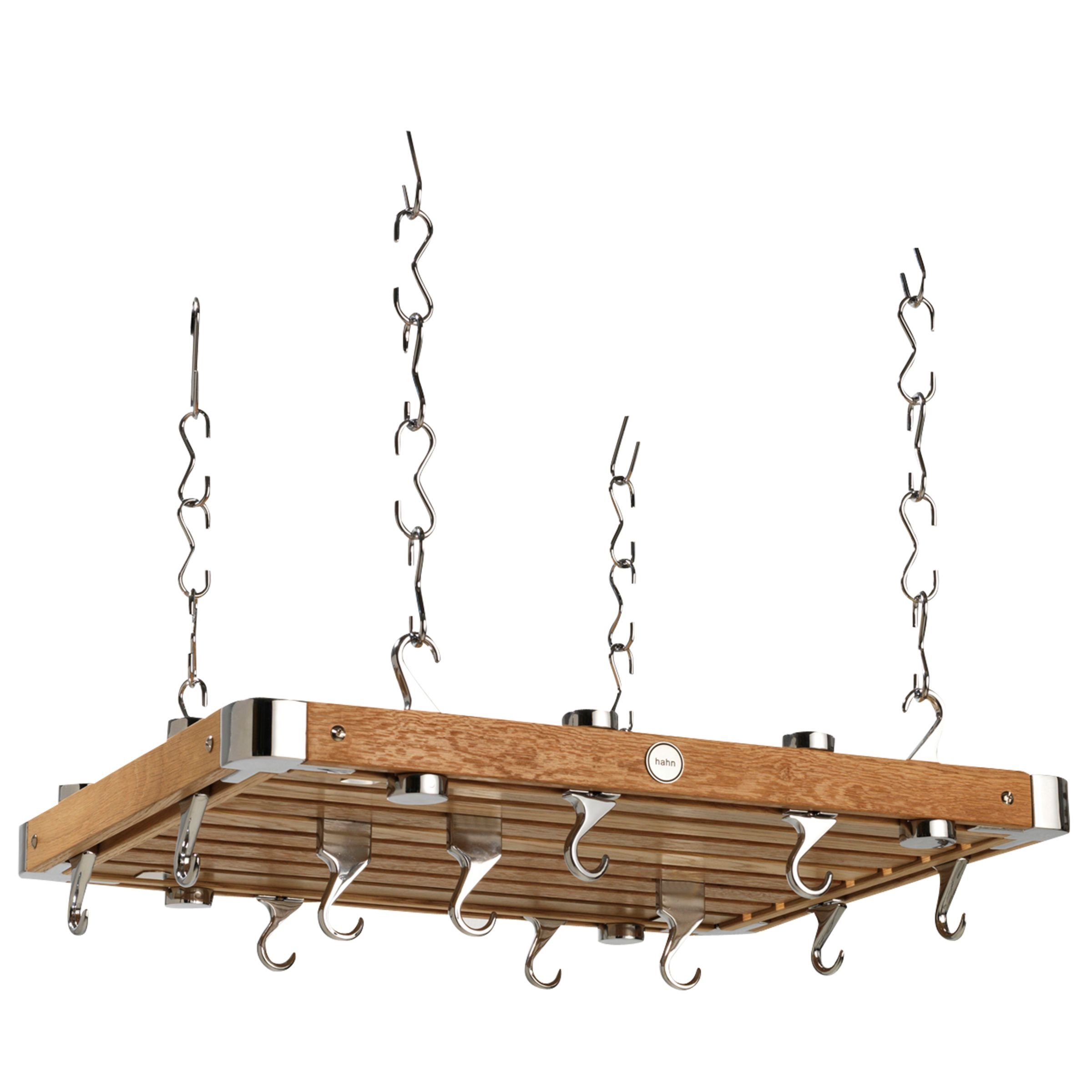 Hahn Hahn Premium Medium Rectangular Ceiling Rack, Oak