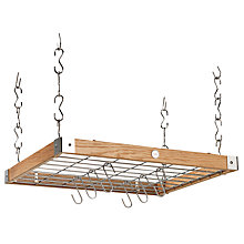 Buy Hahn Premium Medium Square Ceiling Rack, Oak Online at johnlewis.com