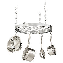 Buy Hahn Premium Round Ceiling Pan Rack, Chrome Online at johnlewis.com