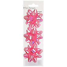 Buy John Lewis 3 Mini Bows, Baby Pink Online at johnlewis.com