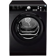 Buy Hotpoint TVFG85C6K Vented Tumble Dryer, 8kg Load, C Energy Rating, Black Online at johnlewis.com