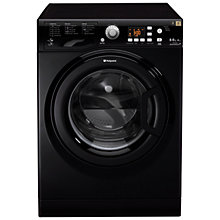 Buy Hotpoint WDPG8640K Washer Dryer, 8kg Wash/6kg Dry Load, A Energy Rating, 1400rpm Spin, Black Online at johnlewis.com