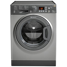 Buy Hotpoint WDPG9640G Washer Dryer, 9kg Wash/6kg Dry Load, A Energy Rating, 1400rpm Spin, Graphite Online at johnlewis.com