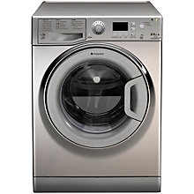 Buy Hotpoint WDPG8640X Washer Dryer, 8kg Wash/6kg Dry Load, A Energy Rating, 1400rpm Spin, Steel Online at johnlewis.com