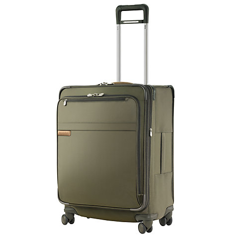 Buy Briggs & Riley Expandable 4-Wheel Medium Spinner Suitcase, Olive Online at johnlewis.com