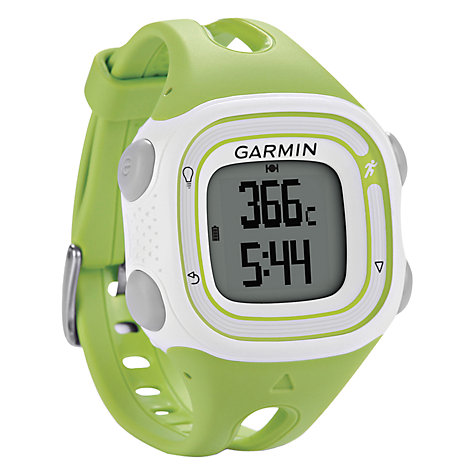 Buy Garmin Forerunner 10 Watch, Green/White Online at johnlewis.com