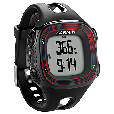 Garmin Forerunner 10 Watch, Black/Red