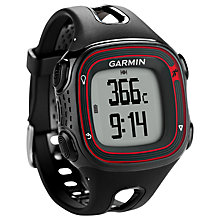 Buy Garmin Forerunner 10 Sports Watch, Black/Red Online at johnlewis.com