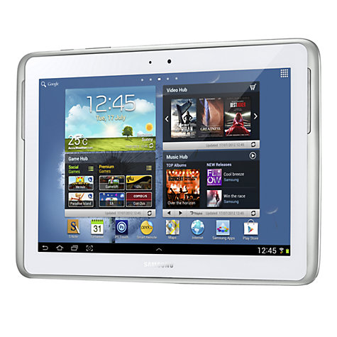 "Buy Samsung Galaxy Note 10.1 Tablet, Samsung Exynos, 1.4GHz, Android, 10.1"", Wi-Fi, 16GB, White Online at johnlewis.com"
