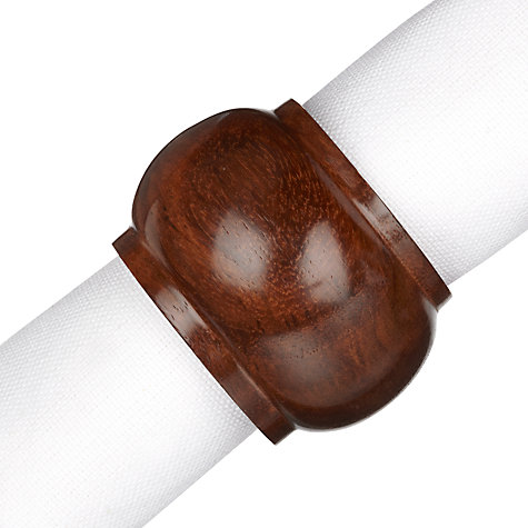 Buy John Lewis Classic Wood Napkin Rings, Set of 4 Online at johnlewis.com