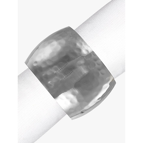 Buy John Lewis Hammered Napkin Ring, Set of 4, Silver Online at johnlewis.com