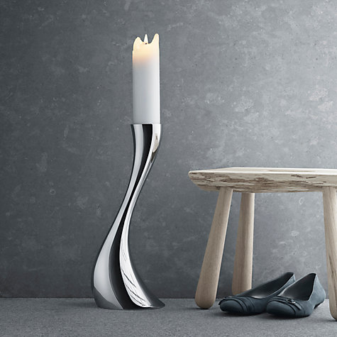 Buy Georg Jensen Cobra Floor Candleholder, Small Online at johnlewis.com