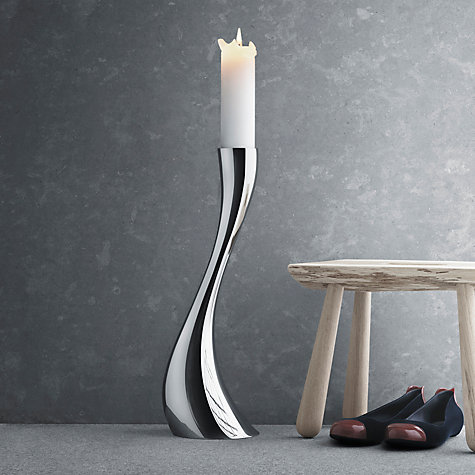 Buy Georg Jensen Cobra Floor Candleholder, Medium Online at johnlewis.com