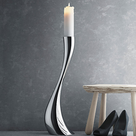 Buy Georg Jensen Cobra Floor Candleholder, Large Online at johnlewis.com
