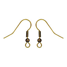 Buy John Lewis Fish Hook Earrings, Pack of 20, Antique Gold Online at johnlewis.com