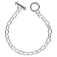 Buy John Lewis Large Link Bracelet, Silver Plated Online at johnlewis.com