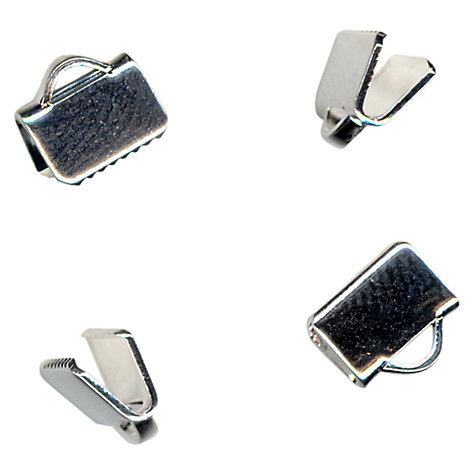 Buy John Lewis Folding Clamp Ends, Pack of 5, Silver Plated Online at johnlewis.com
