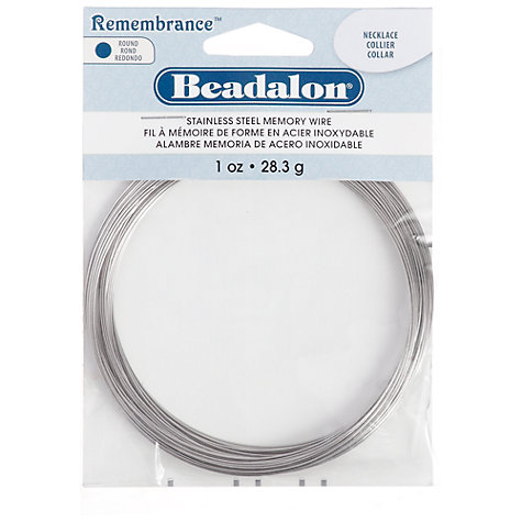 Buy Beadalon Necklace Memory Wire, Silver Online at johnlewis.com
