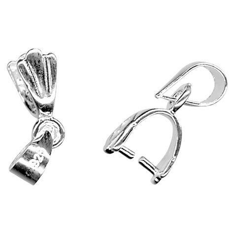 Buy John Lewis 16mm Pendant Mount, Pack of 2, Sterling Silver Online at johnlewis.com