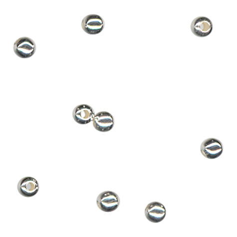 Buy John Lewis 2.4mm Round Spacer Beads, Pack of 100, Silver Plated Online at johnlewis.com