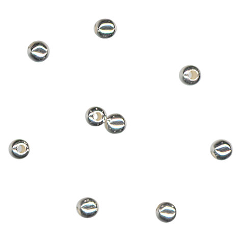 Buy John Lewis 3mm Round Spacer Beads, Pack of 100, Silver Plated Online at johnlewis.com