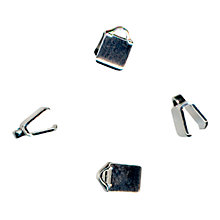 Buy John Lewis Small Folding Clamp End Pairs, Pack of 5, Silver Plated Online at johnlewis.com