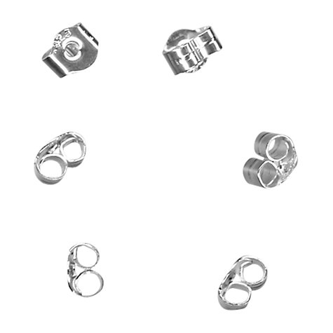 Buy John Lewis Scroll Backs, Pack of 10, Sterling Silver Online at johnlewis.com