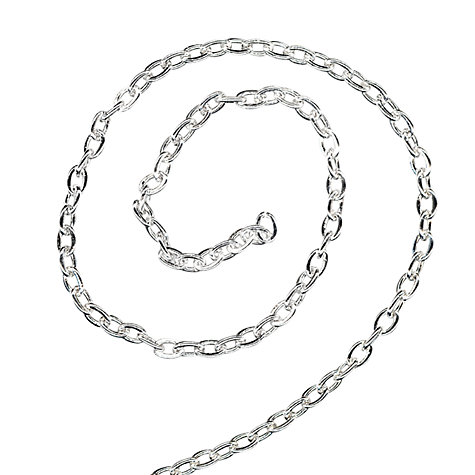 Buy John Lewis Trace Chain, 1m, Silver Plated Online at johnlewis.com